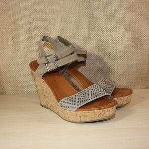 American Eagle Outfitters Cork Wedge Sandals, 9